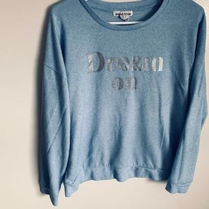 Light blue fall long sleeves sweater. Size large.
